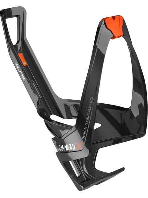 Elite Cannibal XC Flaschenhalter schwarz glänzend/orangene Grafik